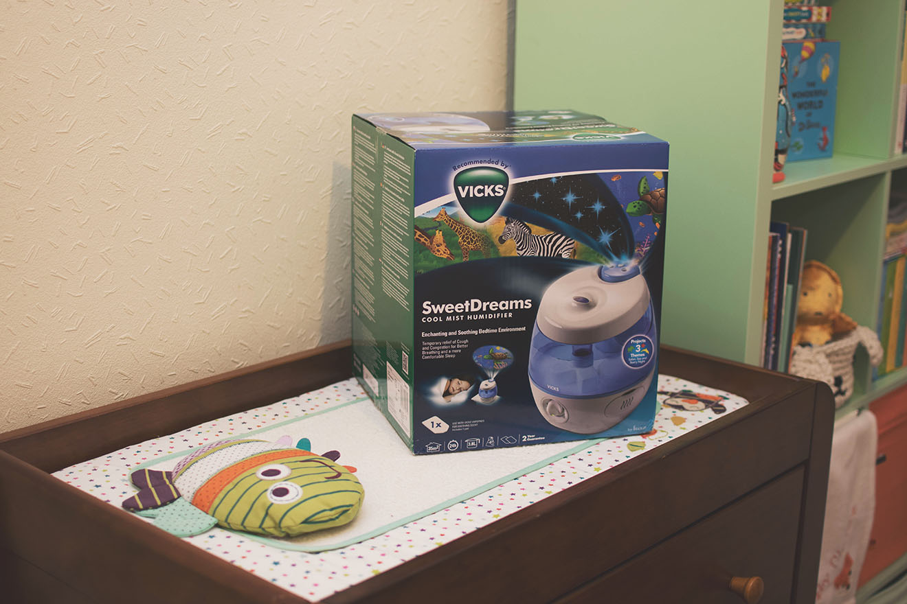 The Vicks Sweet Dreams Cool Mist Humidifier With Projector