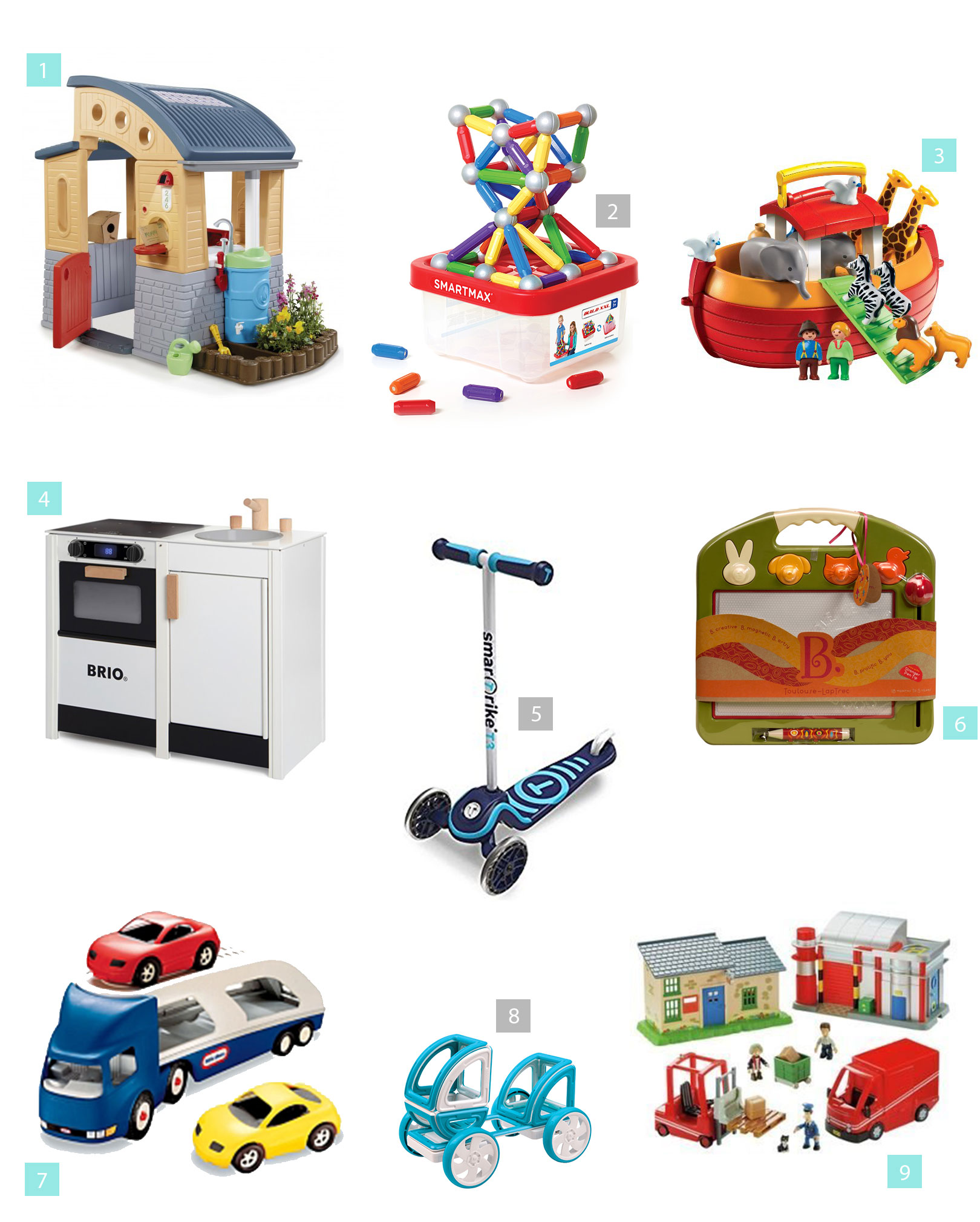 Toddler Christmas and Birthday Gift Guide for Two Year Olds