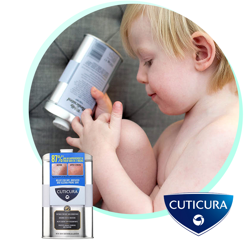 Keeping eczema under control with Cuticura Mildly Medicated Talcum Powder